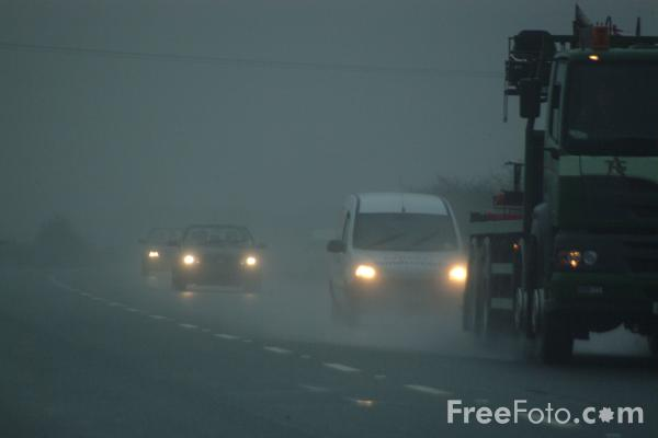 Picture of A66 Darlington Bypass in the rain - Free Pictures - FreeFoto.com