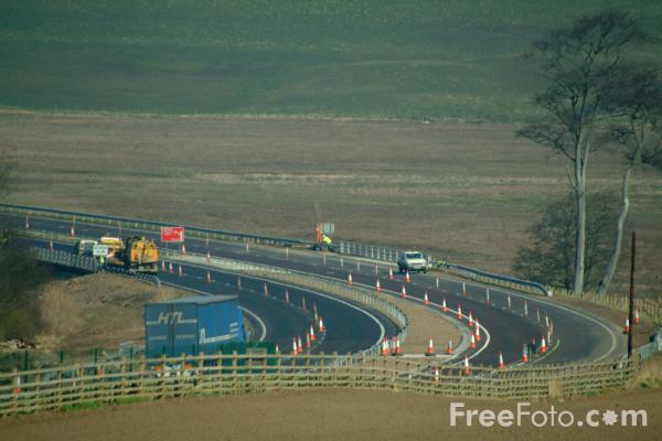 Picture of A1 dual carriageway, Alnwick,  Northumberland - Free Pictures - FreeFoto.com