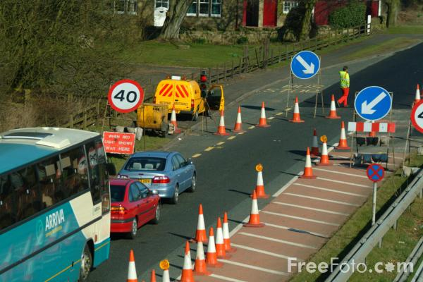 Picture of Photographs of the A1 north of Morpeth in Northumberland. - Free Pictures - FreeFoto.com