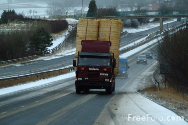 Picture of A69 - The Carlisle Sunderland Trunk Road in the Winter - Free Pictures - FreeFoto.com
