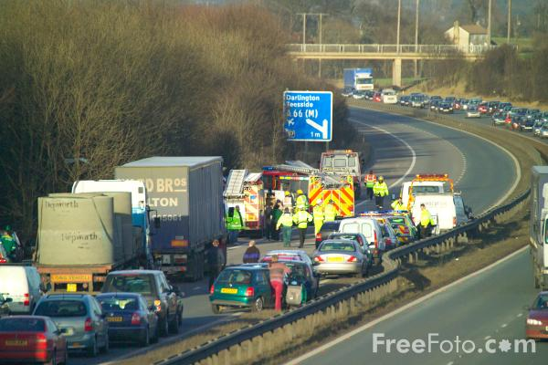 Picture of Traffic Congestion on the in North Yorkshire - Free Pictures - FreeFoto.com