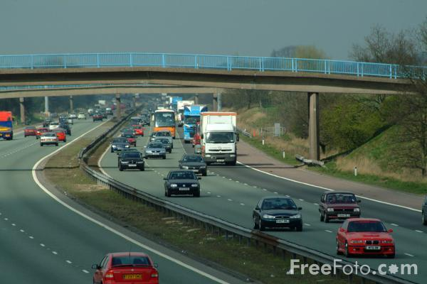 Picture of M6 Motorway Junction 16 - Free Pictures - FreeFoto.com