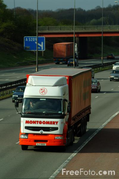 Picture of M6 Motorway Lancashire - Free Pictures - FreeFoto.com