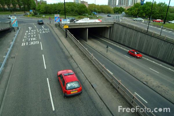 Picture of A167M Newcastle Central Motorway - Free Pictures - FreeFoto.com
