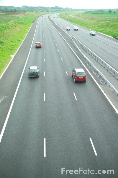 Picture of M6 Toll Road - Free Pictures - FreeFoto.com