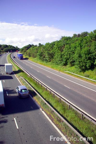 Picture of A1M Motorway - Free Pictures - FreeFoto.com