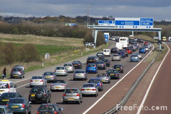 Picture of A1M Motorway Congestion - Free Pictures - FreeFoto.com