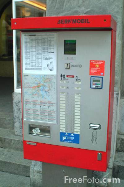 Picture of Ticket Machine, Bern, Switzerland - Free Pictures - FreeFoto.com
