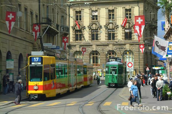 Picture of Tram, Basel, Switzerland - Free Pictures - FreeFoto.com
