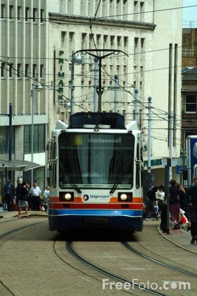 Picture of Stagecoach Supertram, Sheffield - Free Pictures - FreeFoto.com