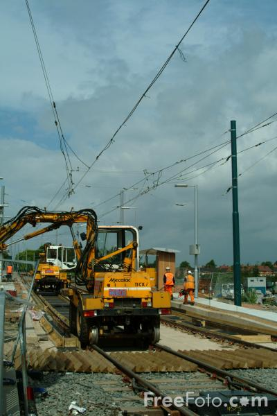 Picture of Nottingham Express Transit Under Construction - Free Pictures - FreeFoto.com