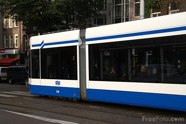 Picture of Tram, Amsterdam - Free Pictures - FreeFoto.com