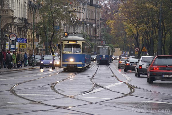 Picture of Tram in Krakow, Poland - Free Pictures - FreeFoto.com