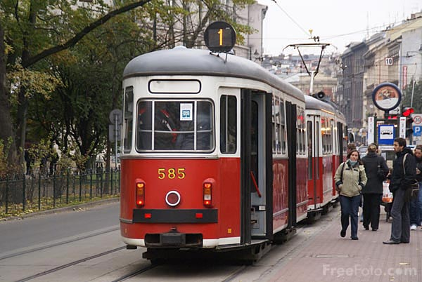 Picture of Tram in Krakow - Free Pictures - FreeFoto.com