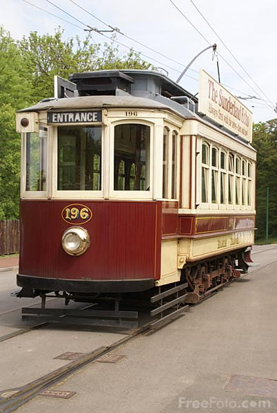 Picture of Beamish Tram number 196 - Free Pictures - FreeFoto.com