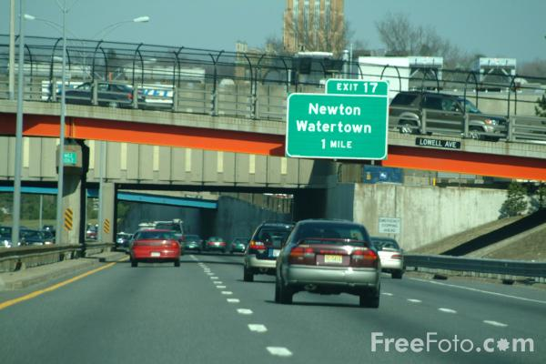Picture of Mass Pike, Interstate 90, Boston, MA, - Free Pictures - FreeFoto.com