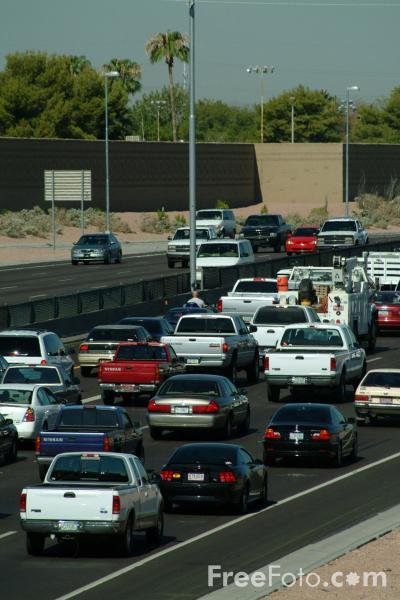 Picture of Traffic jam, Interstate 60, Tempe, AZ - Free Pictures - FreeFoto.com