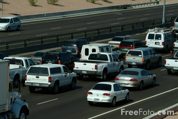 Picture of Rush Hour Traffic, Interstate 60, Tempe, AZ - Free Pictures - FreeFoto.com