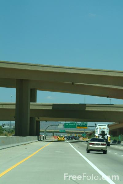 Picture of Intersection, Interstate 17, Phoenix, AZ - Free Pictures - FreeFoto.com