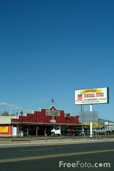 Picture of General Store, Seligman, Route 66, Arizona - Free Pictures - FreeFoto.com