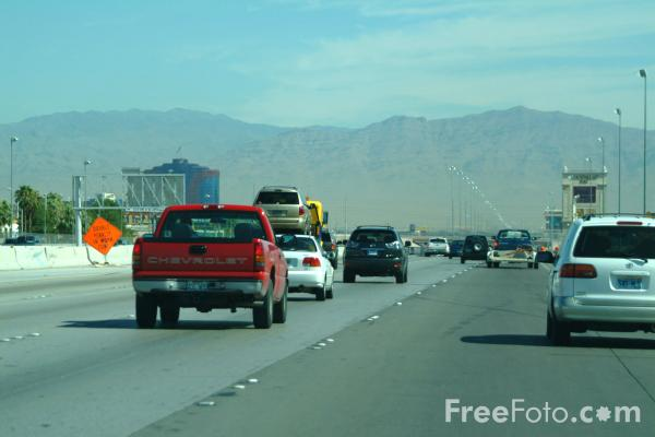 Picture of Interstate 15, Las Vegas, Nevada, USA - Free Pictures - FreeFoto.com