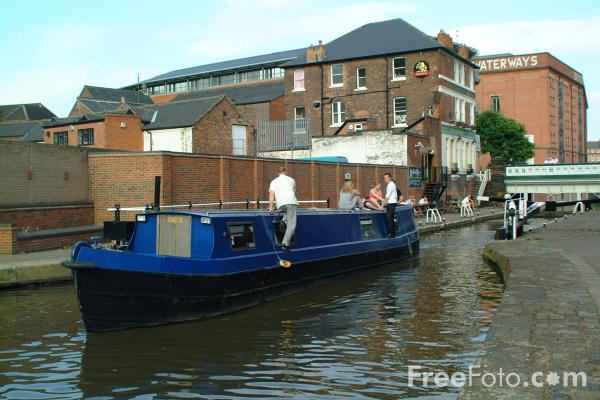 Picture of Canal boat on the Nottingham Beeston Canal. - Free Pictures - FreeFoto.com