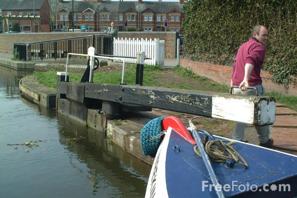 Picture of The Town Lock, Welshpool, Powys, Wales - Free Pictures - FreeFoto.com