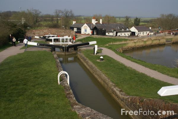 Picture of Foxton Locks, Grand Union Canal, Leicestershire - Free Pictures - FreeFoto.com