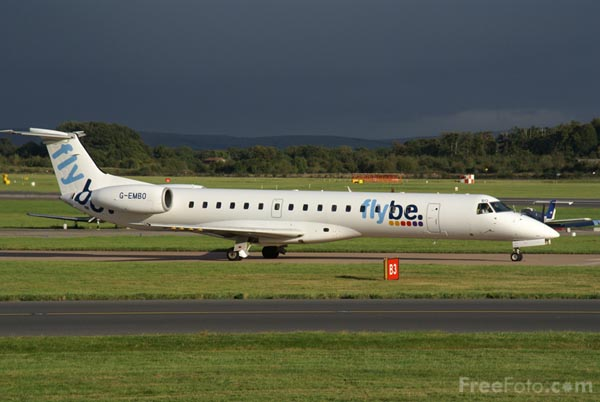 Picture of Flybe Airplane - Free Pictures - FreeFoto.com