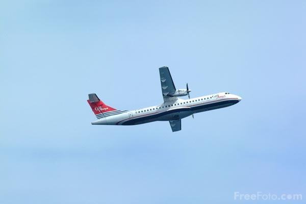 Picture of Gill Airways ATR-72 G-BXYV - Free Pictures - FreeFoto.com