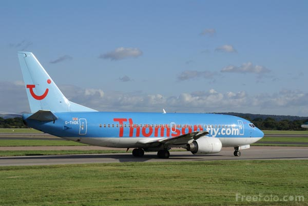 Picture of Thomsonfly Jet Airplane - Free Pictures - FreeFoto.com