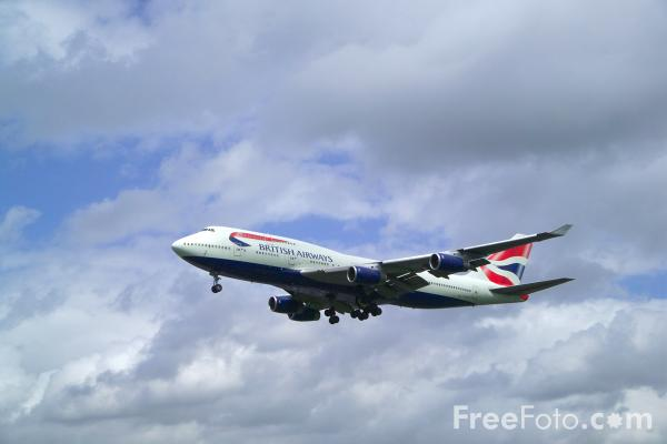 Picture of British Airways 747 - Free Pictures - FreeFoto.com