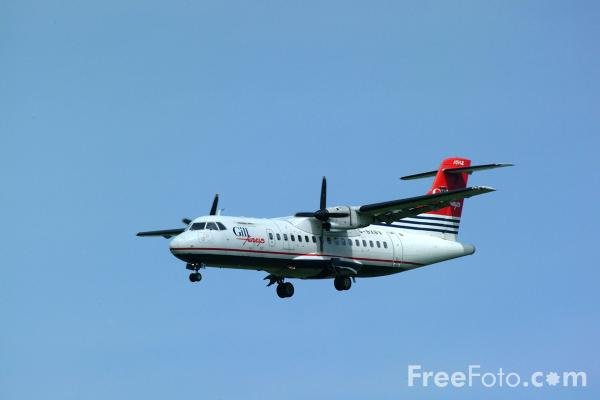 Picture of Gill Airways ATR-42-300 G-BXBV - Free Pictures - FreeFoto.com