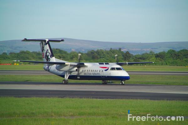 Picture of De Havilland Canada Dash 8 - Free Pictures - FreeFoto.com