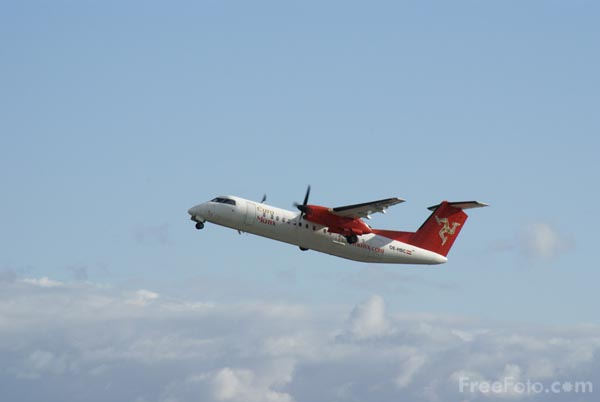 Picture of EuroManx De Havilland Canada DHC-8-311Q Dash 8 - Free Pictures - FreeFoto.com