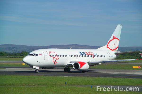 Picture of Bmibaby Boeing 737-33A G-TOYE - Free Pictures - FreeFoto.com