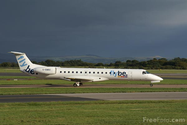 Picture of Flybe Embraer EMB-145EU G-EMBN - Free Pictures - FreeFoto.com