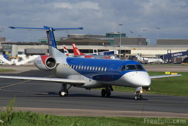Picture of BMI Regional Embraer EMB-145EP G-RJXC - Free Pictures - FreeFoto.com