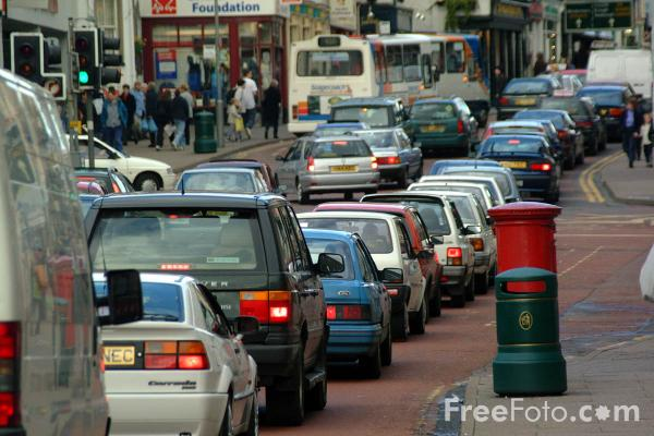 Picture of Traffic Jam in Keswick - Free Pictures - FreeFoto.com