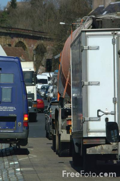 Picture of Traffic Jam, Yarm on Tees - Free Pictures - FreeFoto.com