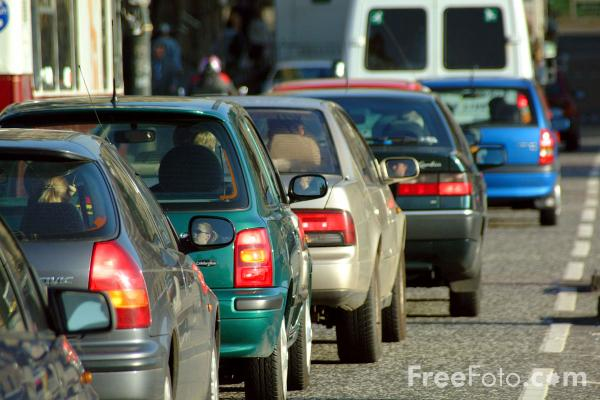 Picture of Traffic Jam in Edinburgh - Free Pictures - FreeFoto.com
