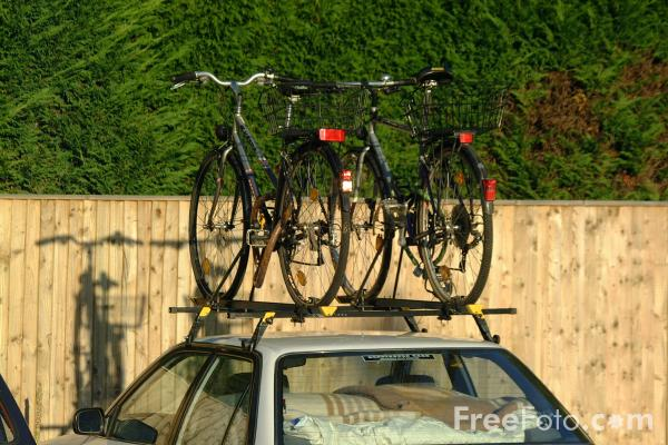 Picture of Car Bicycle Rack - Free Pictures - FreeFoto.com