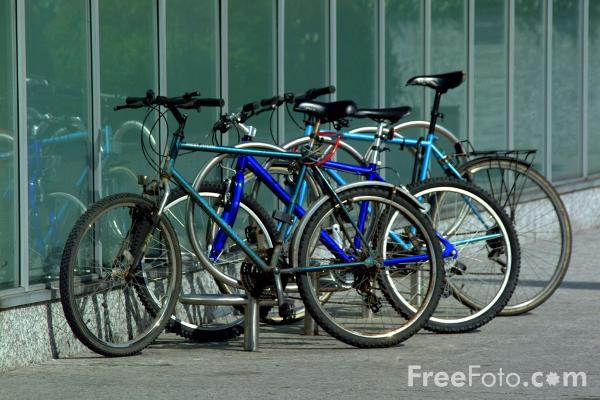 Picture of Bicycles - Free Pictures - FreeFoto.com