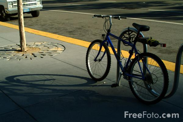 Picture of Bicycle Shadow - Free Pictures - FreeFoto.com