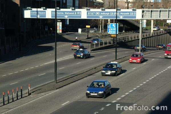Picture of A167(M) Central Motorway, Newcastle upon Tyne - Free Pictures - FreeFoto.com