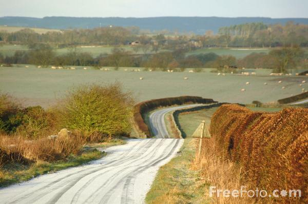 Picture of Frosty Road - Free Pictures - FreeFoto.com