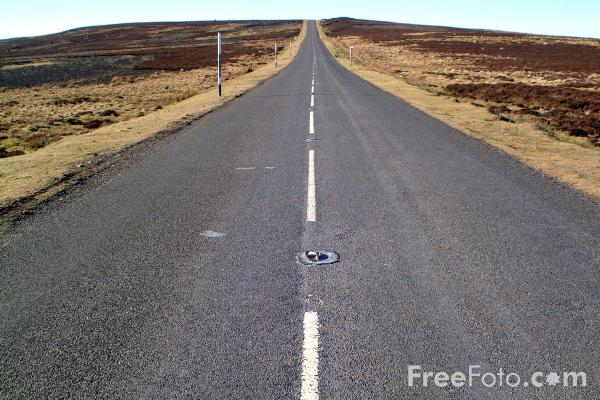 Picture of Straight Road - Free Pictures - FreeFoto.com