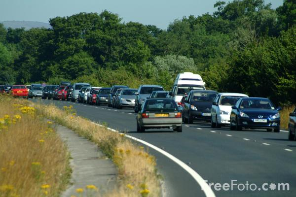 Picture of Traffic Congestion, A351 Wareham, Dorset - Free Pictures - FreeFoto.com