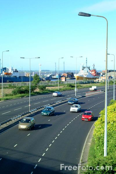 Picture of Dual Carriageway, A63, Kingston Upon Hull - Free Pictures - FreeFoto.com