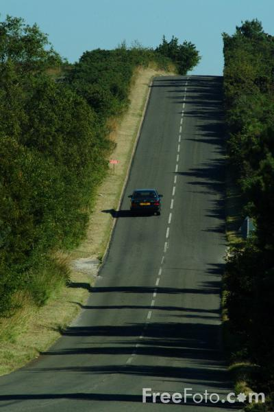 Picture of Straight Country Road, B3075, Dorset - Free Pictures - FreeFoto.com